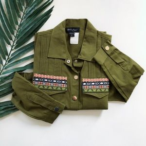 CHARLIE PAIGE UTILITY BUTTON JACKET